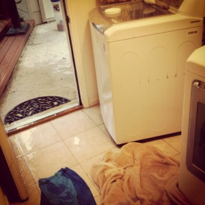 washing machine disaster