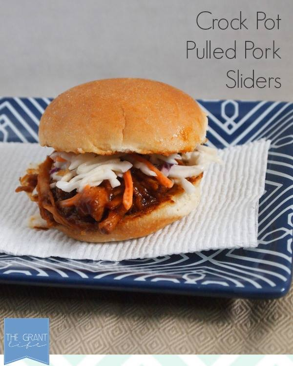 Easy Crock Pot Pulled Pork Sliders - perfect for a football party