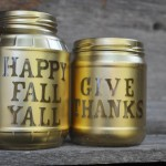 Easy Fall Decoration using Mason Jars and Foam stickers  150x150 Crafts