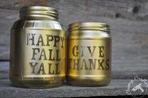 Fall Mason Jar Candle Votives