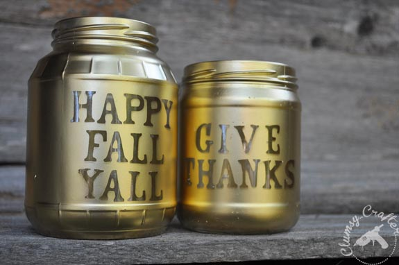 Fall Mason Jar Candle Votives