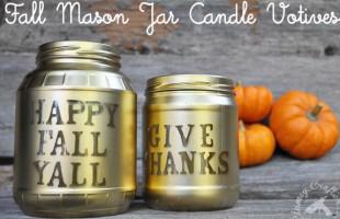 My Favorite Fall Craft: Fall Mason Jar Votives