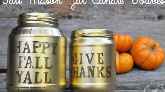 My Favorite Fall Craft: Fall Mason Jar Votives
