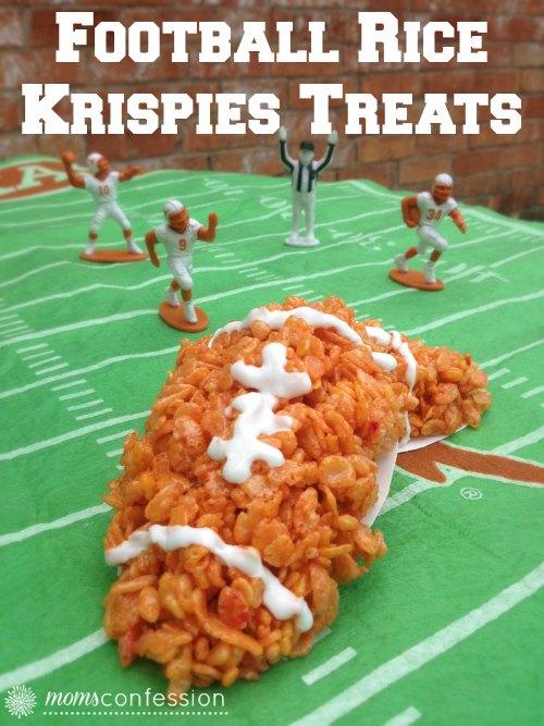 Football Rice Krispie Treats, great for football parties!