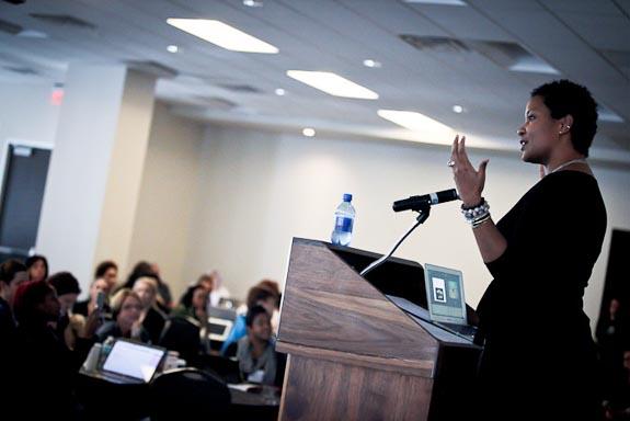 Karen Walrond speaking at Blog Elevated Conference 2013