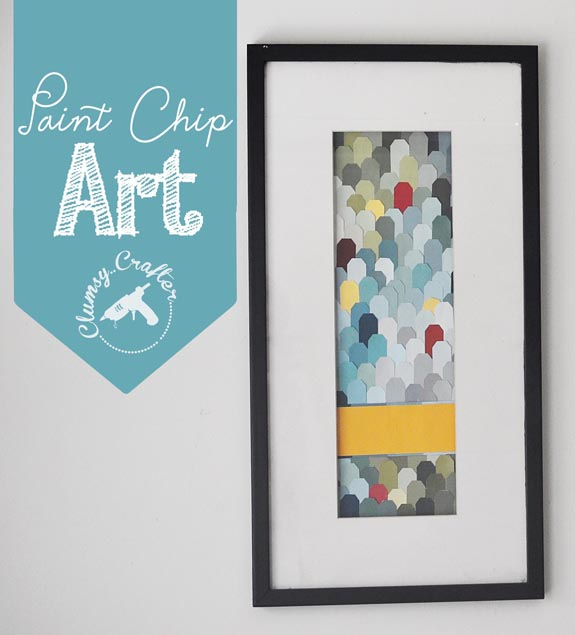 Paint Chip art from Clumsy Crafter