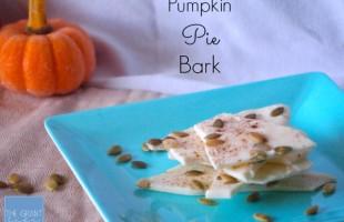 Pumpkin Pie Bark