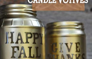 Mason Jar Candle Votives for Fall