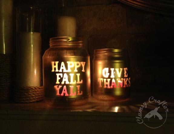 Mason jar candle votives for fall clumsy crafter for Mason jar candle crafts