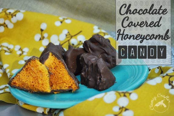 Chocolate Covered Honeycomb Candy - Super easy candy recipe that looks like it's a ton of work! great holiday gift.
