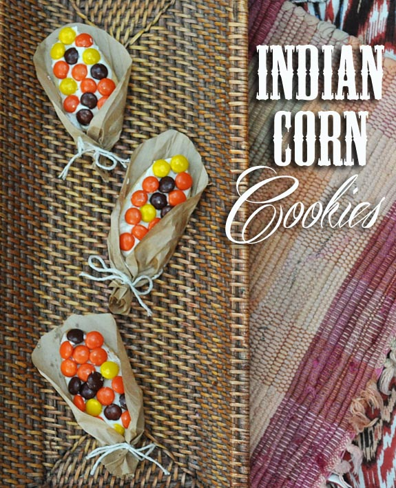 Indian Corn Cookies cute for Thanksgiving Indian Corn Cookies