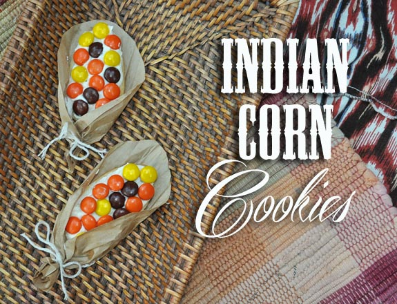 Indian Corn cookies, a great Thanksgiving recipe for kids