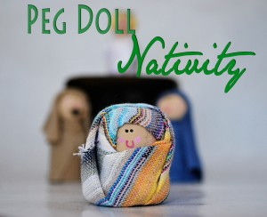 Peg Doll Nativity made from peg dolls and fabric scraps!