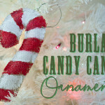 Burlap Candy Cane ornament by Clumsy Crafter 150x150 Crafts