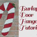 Burlap Door Hanger Tutorial 150x150 Crafts