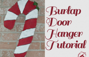 Burlap Door Hanger Tutorial