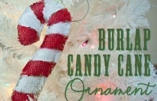 Burlap Candy Cane Ornament Tutorial