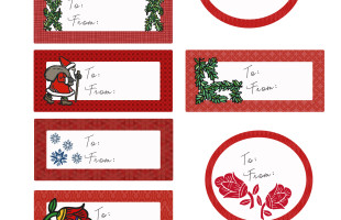 Free Whimsical Christmas Labels