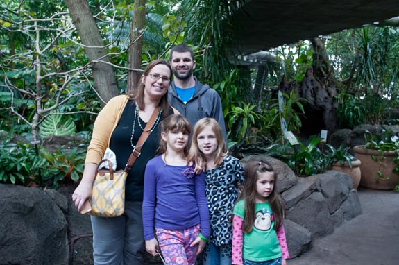 Family at Moody Gardens