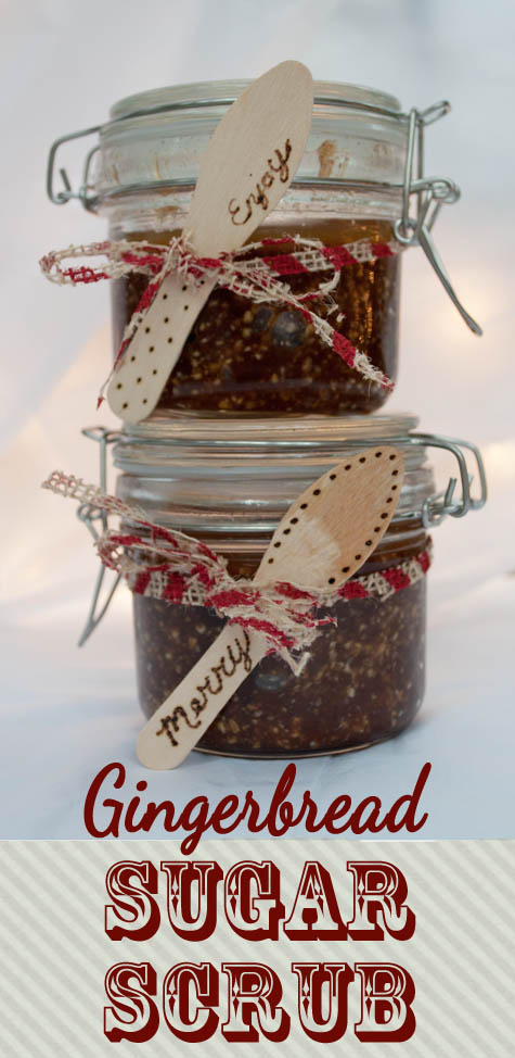 gingerbread sugar scrub from Clumsy Crafter Gingerbread Sugar Scrub