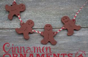 Easy Cinnamon Ornaments