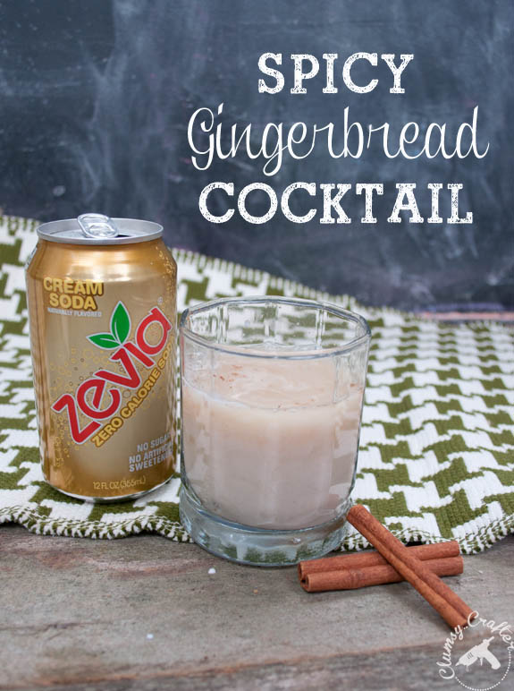 Spicy Gingerbread Cocktail with Cream Soda