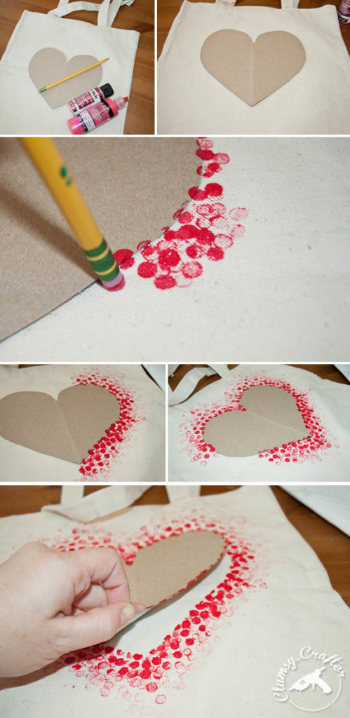 Easy Heart Tote Bag Perfect For Valentine S Day Clumsy Crafter
