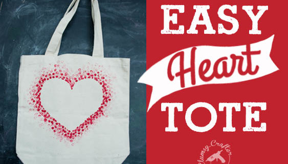 Easy Heart Tote Bag – Perfect for Valentine's Day!