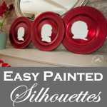 Easy Painted Silhouettes on Chargers 150x150 Crafts
