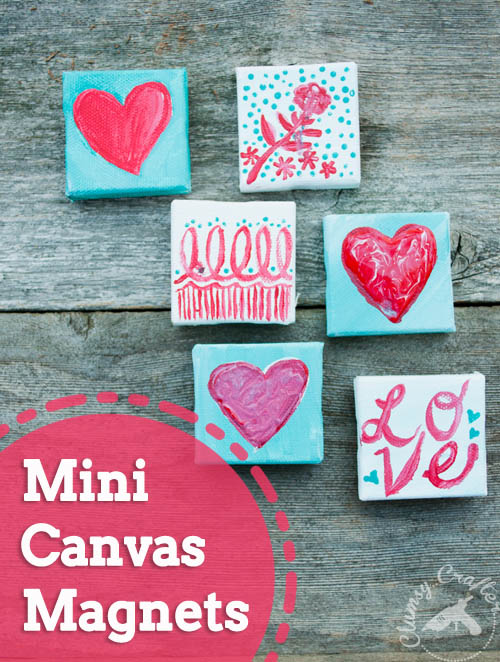 Mini Canvas Magnets from Clumsy Crafter