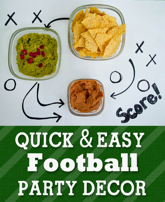 Quick and Easy Football Party Decor