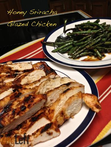 Honey Siraccha glazed chicken