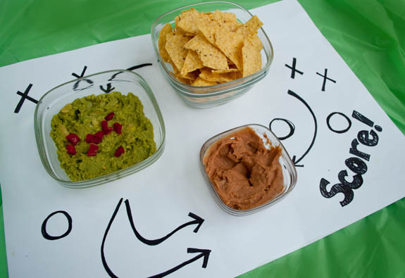 Easy and cute way to serve food at a superbowl party