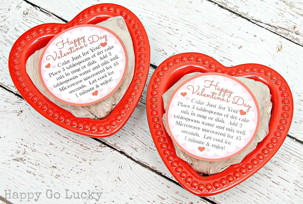 Cake for One with Free Printable for Valentine's Day