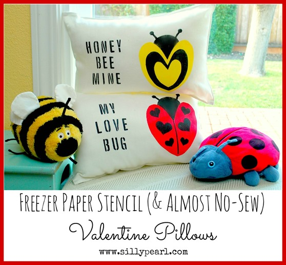 Easy Freezer Paper Stenciled Pillows