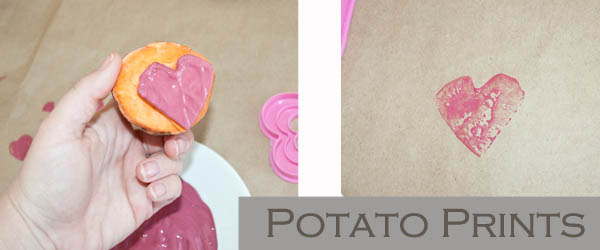 Potato Prints for kids