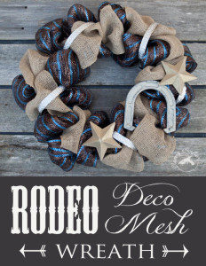 Rodeo Burlap and Deco Mesh Wreath