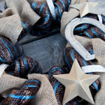Rodeo Themed Deco Mesh and Burlap Wreath 150x150 Crafts