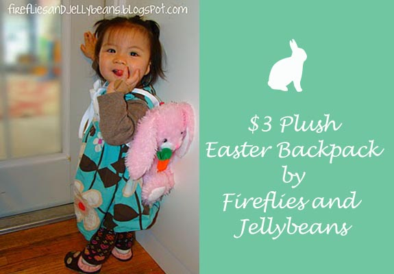 $3 Plus Easter backpack by Fireflies and JellyBeans