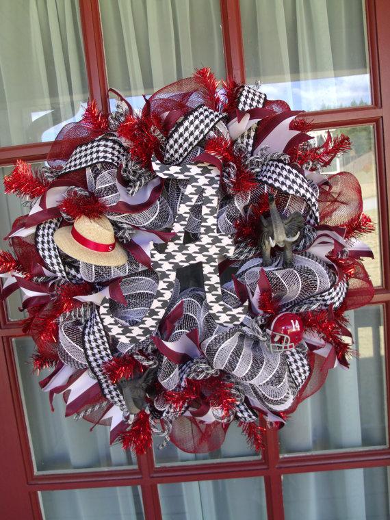 Alabama Crimson Tide DecoMesh Wreath