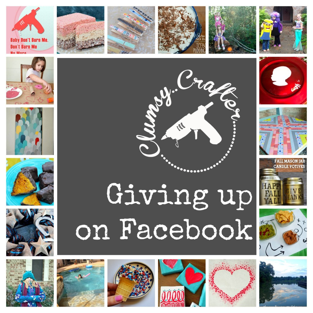 Giving up on Facebook as a blogger