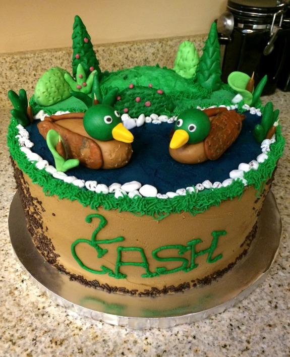 Strange Duck Dynasty Birthday Cake Clumsy Crafter Personalised Birthday Cards Veneteletsinfo