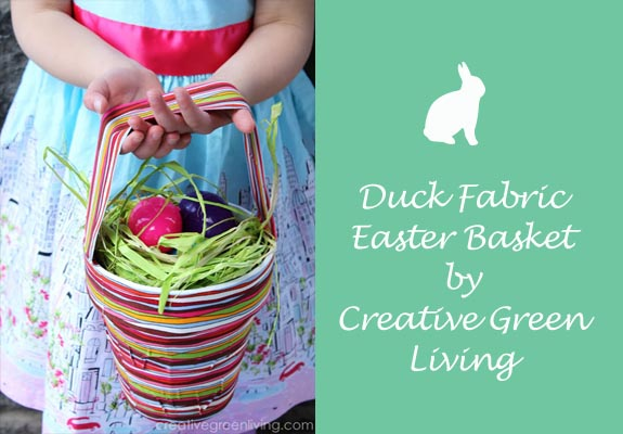 Duck Fabric Easter Egg Basket by Creative Green Living