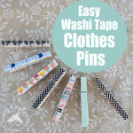 Easy Washi Tape Clothes Pins so easy but so cute Great teachers gift 150x150 Crafts