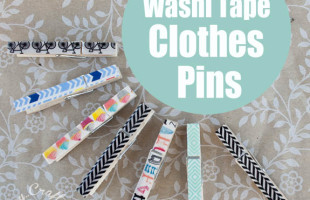 Washi Tape Craft: Covered Clothespins