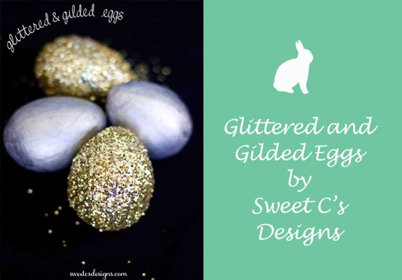 Glittered and Gilded Eggs by Sweet C's Designs
