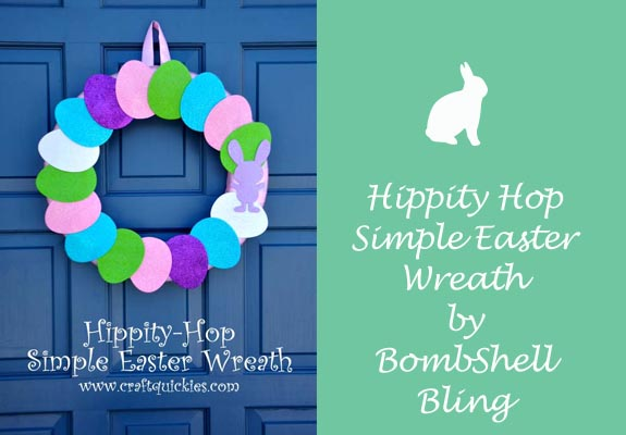 Hippity Hop Simple Easter Wreaths by Bombshell Bling