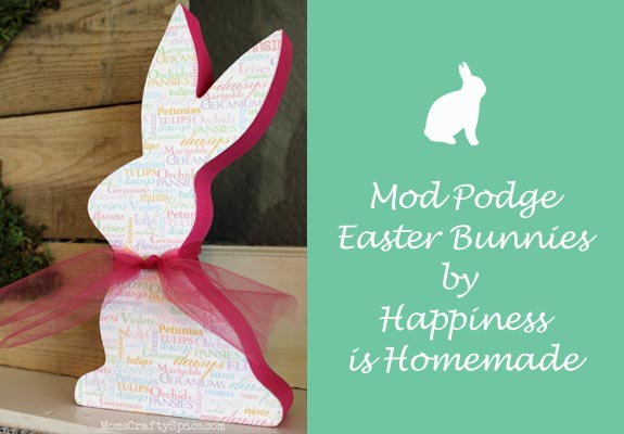 Mod Podge Easter Bunnies by Happiness is Homemade
