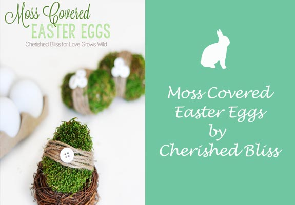 Moss Covered Easter Eggs by Cherished Bliss