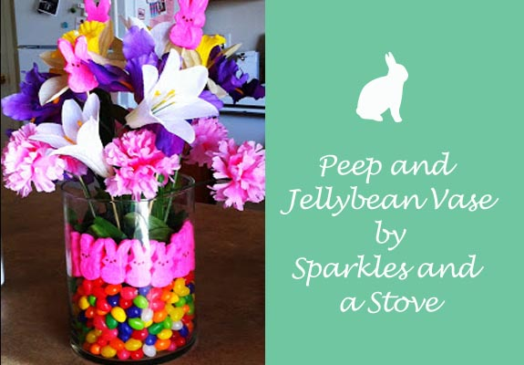 Peep and Jelly Bean Vase by Sparkles and a Stove